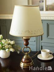 イタリアから届いたおしゃれな照明器具、アンティーク調のテーブルランプ(E26電球付)
