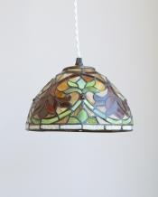 色とりどりで美しいアンティークリプロダクション ステンドグラスランプ(コード・E17球付き・ギャラリーなし)