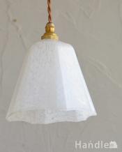 ガラスの模様がロマンチック、アンティークシェードペンダントライト(コード・シャンデリア電球・ギャラリーなし)
