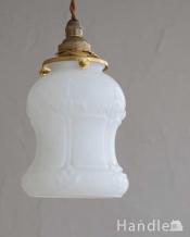 リラックスできる灯り、アンティークペンダントライト(コード・シャンデリア電球・ギャラリーA付き)