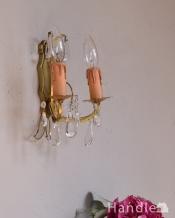 フランスの壁付けのシャンデリア(2灯)(E17シャンデリア球付)