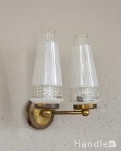 フランスで見つけたアンティークのウォールブラケット(2灯)(E17シャンデリア球付)
