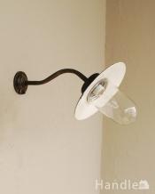 アンティークのウォールデッキランプ、お洒落なポーチライト(外灯)(E26球付)