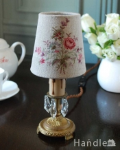 電球に被せるだけでグーンとお洒落になるフラワーブーケが可愛いフランスの布シェード (コクシグル)