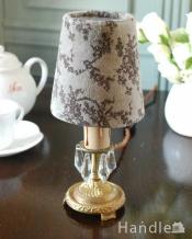 リボンとお花の柄が可愛い落ち着いた色のフランスの布シェード (コクシグル)