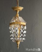 どこでも気軽に取り付けられるアンティークのプチシャンデリア(1灯)(E17シャンデリア球付)
