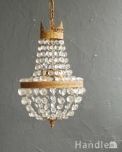 フランスで見つけたアンティークのシャンデリア(2灯)(E17シャンデリア球付)