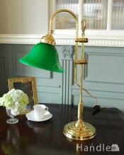 イタリアのアンティーク風シェード付きテーブルランプ(E17電球付)