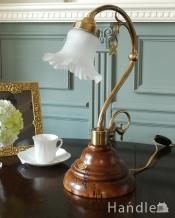 イタリアのアンティーク風シェード付きテーブルランプS(E17電球付)