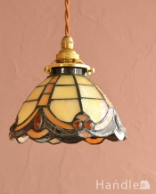 イギリスから到着したアンティークステンドグラスのランプ(コード・シャンデリア球・ギャラリーA)