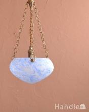 マーブル模様のガラスが美しいハンギングボウル(E17シャンデリア球1灯付)