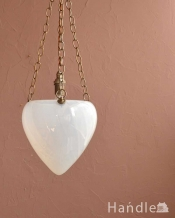 ねじり仕上げの白いシェードが可愛いハンギングボウル(E17シャンデリア球1灯付)