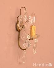 フランスアンティークの壁付けシャンデリア(E17シャンデリア球付)
