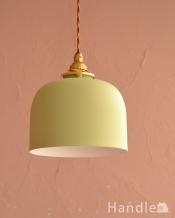 ドームの形が印象的なアイアンシェードのペンダントライト・グリーン(コード・シャンデリア電球・ギャラリーA付き)