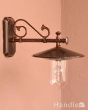 アンティーク調のおしゃれな外灯、ウォールブラケット(電球セット)
