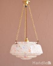 アンティークのハンギングボウル、イギリスで見つけた照明(E26球付)