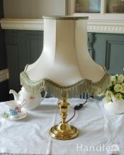 アンティークテーブルランプ、シェード付きの照明(E17シャンデリア球付き)