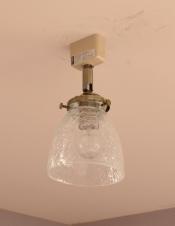 クラックガラスのアンティーク風のシーリングライト(電球セット)