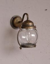 真鍮製ウォールブラケット、小さいポーチライト(外灯・アンティーク色)(電球セット)