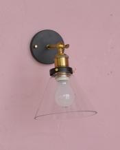 可動式ウォールランプ マウント型(ガラスシェード)(電球なし)
