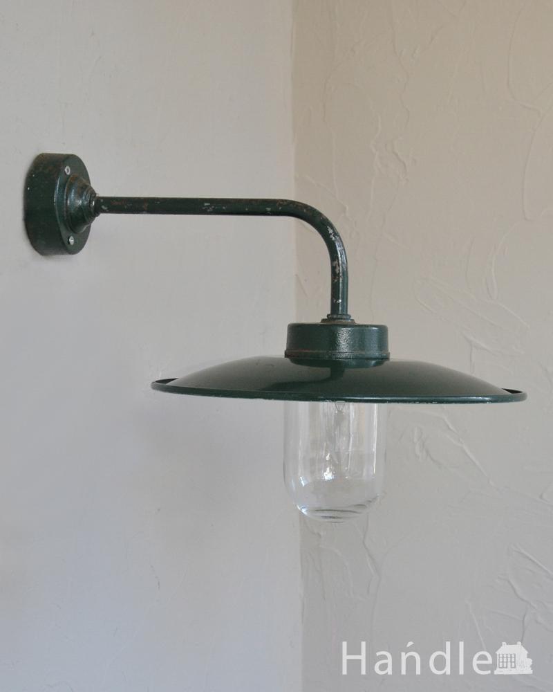 フランス輸入のアンティークポーチライト(外灯)、グリーンのデッキランプ(E26球) (d-1581-z)