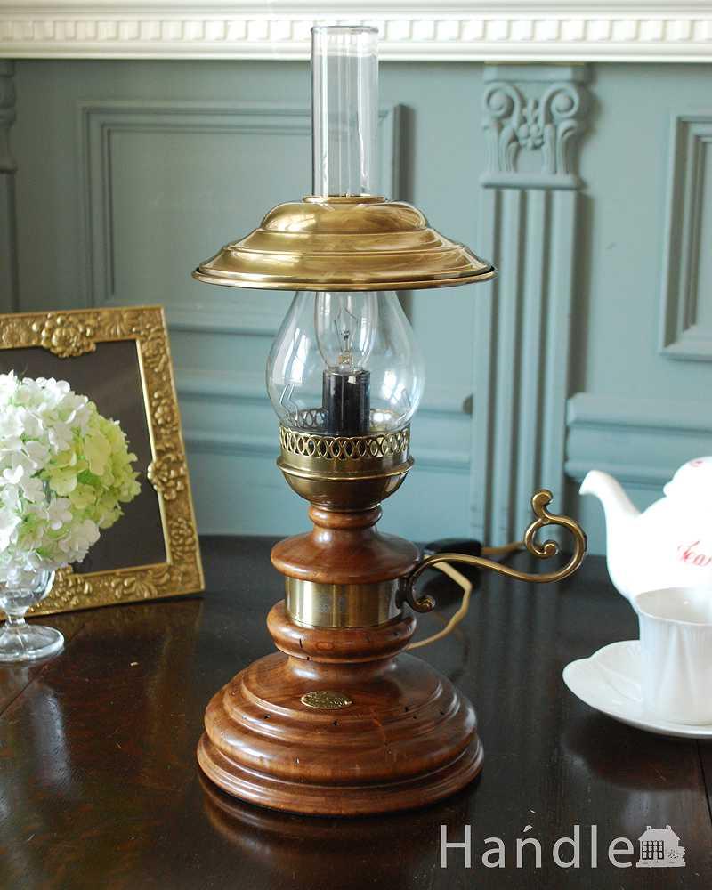 イタリアのアンティーク風テーブルランプ(1灯)(E17電球付) (TL-0063)