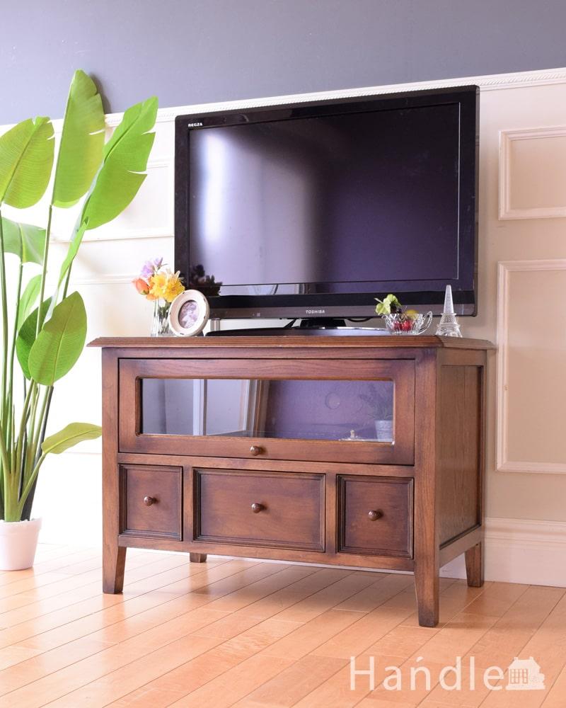 アンティーク風のテレビボード、どこにでも置けるサイズのTVボード (商品番号 y-409-f)