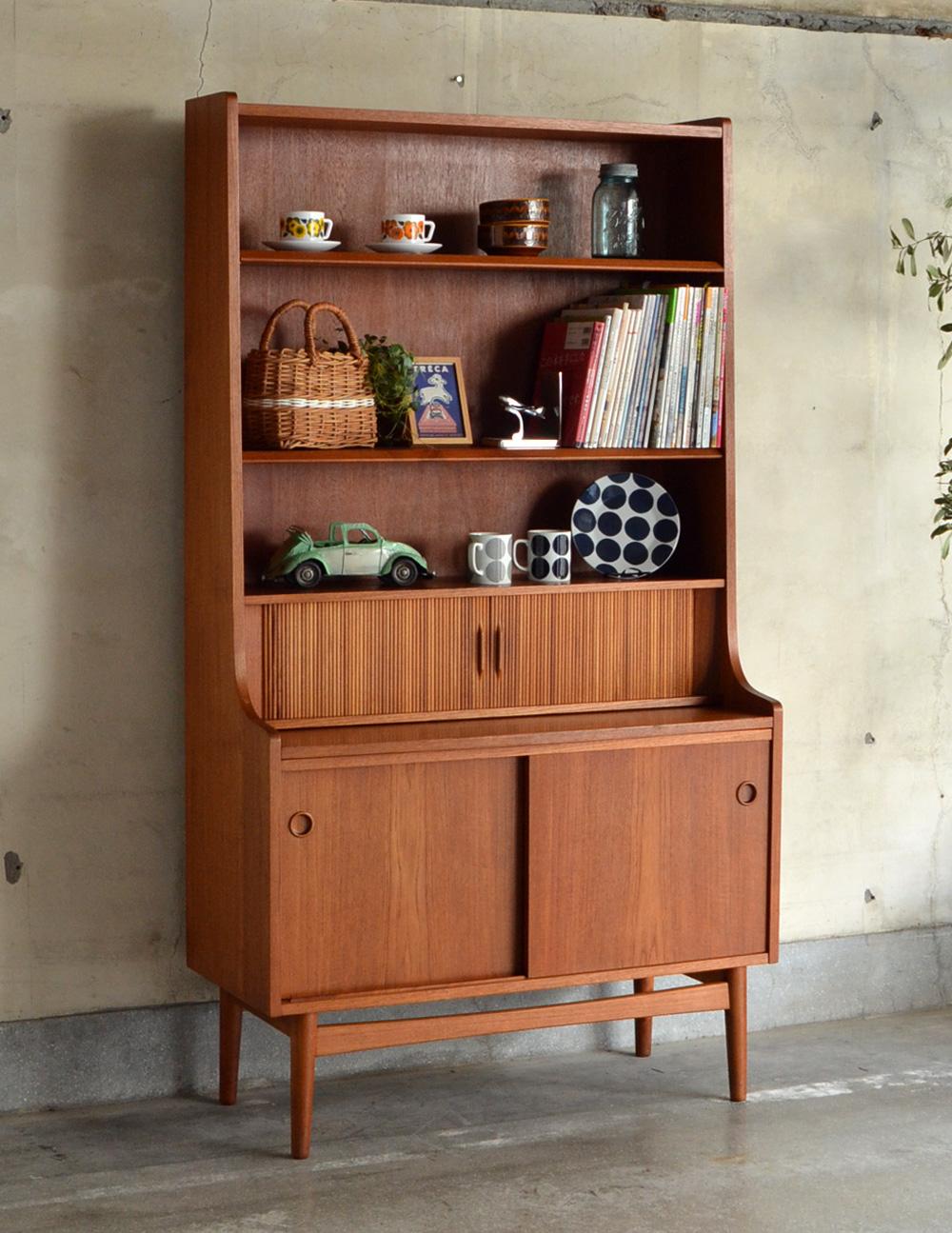 デンマークのヴィンテージ家具、デスク付きのブックシェルフ(本棚