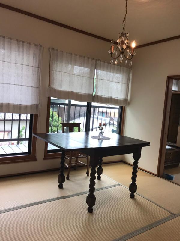 愛媛県Yさまのアンティークテーブル