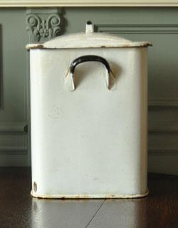 m-887-z アンティークブレット缶(ホーロー)の横