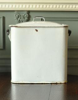 m-887-z アンティークブレット缶(ホーロー)の後ろ