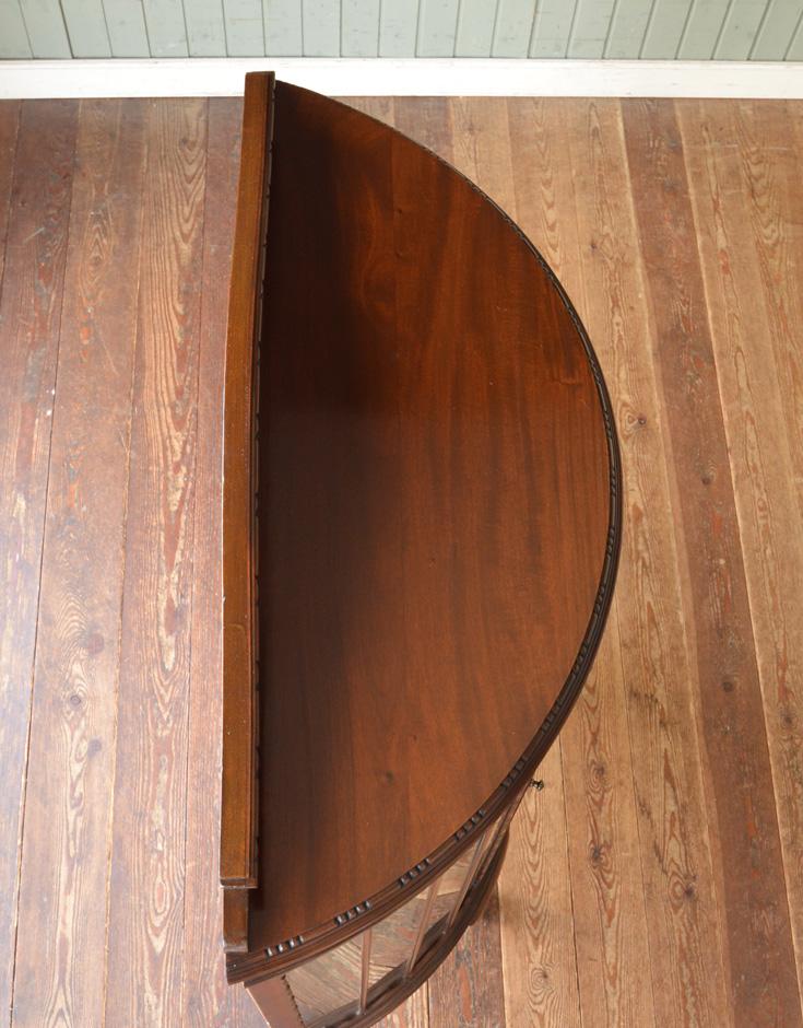 j-1192-f アンティークガラスキャビネットの天板