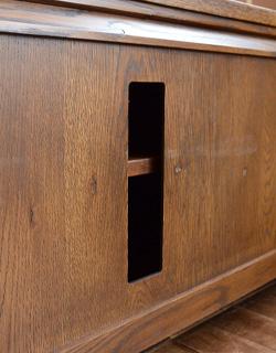 y-123-f アンティーク風サイドボード(テレビ台・新品)のコード穴