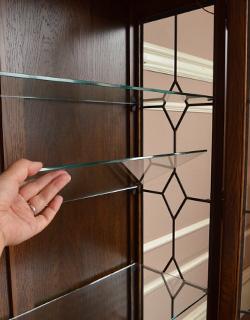 y-127-f アンティーク風ガラスキャビネットの棚板