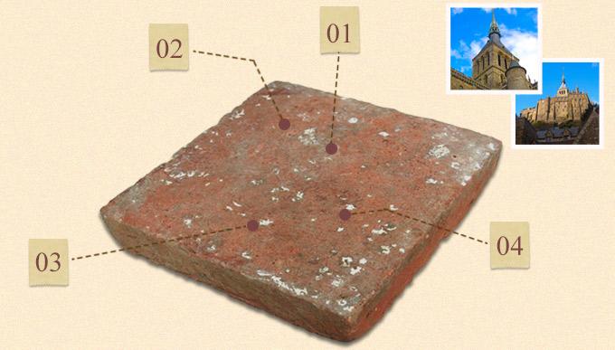 HOT-04 アンティークテラコッタタイルSサイズポイント写真