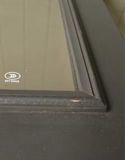 コントワールドファミーユ アンティーク風 コントワール・ド・ファミーユのディスプレイテーブル(ムーブルペイント)。職人が一つ一つ手作業で、使い込まれた雰囲気を表現しています。(cff-64)