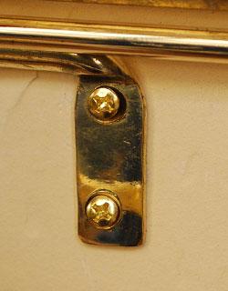洗面・トイレ 住宅用パーツ 真鍮製トイレットペーパーホルダー(ゴールド・ビス付き)。壁にビスで固定してお使いください。(sa-209)