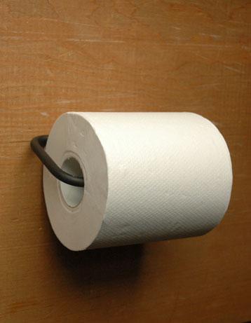 洗面・トイレ 住宅用パーツ ブラックブラスのマルチハンガー (ブラック・シンプル)。ペーパーホルダーにもなります。(sa-609)