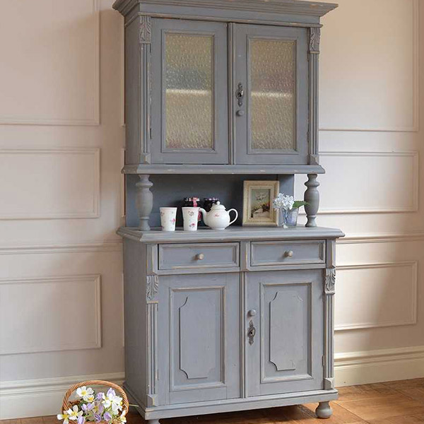 フランスのペイントのアンティークの食器棚
