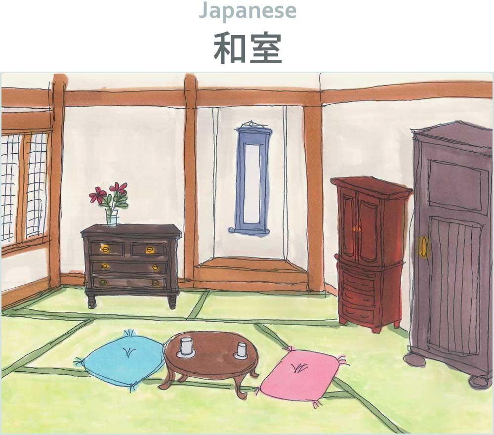 和室から家具や椅子を選ぶ