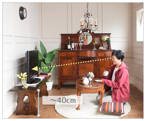 床に座ってテレビを見たときの最適なテレビボードの高さ