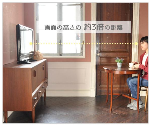 フルHDテレビの視聴距離